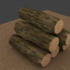 الخشب المستدير المكدس