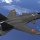 Ryska Sukhoi Su-47-flygplan