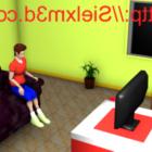 لعبة مشهد الغرفة