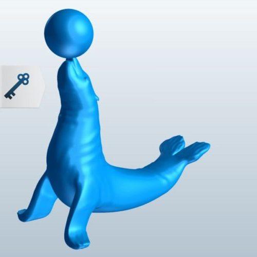 Seal Balancing Ball Sculpture