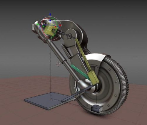 عجلة الهيدروليكية Rigged