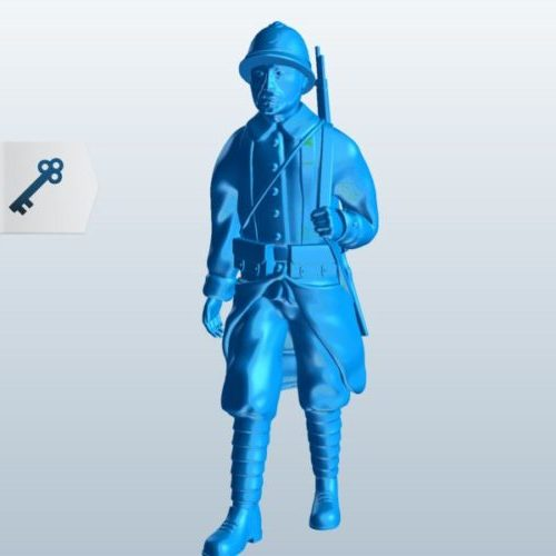 Soldier Walking With Rifle