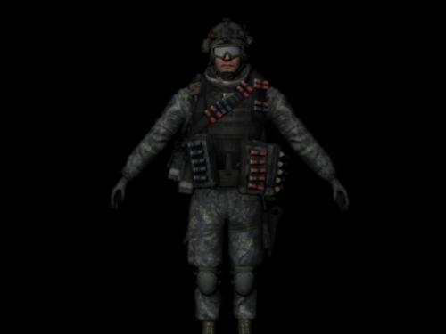 Accesorios de armas completas de soldado