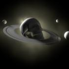Scène de concept de crâne spatial