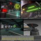 Nave de la estación espacial de ciencia ficción