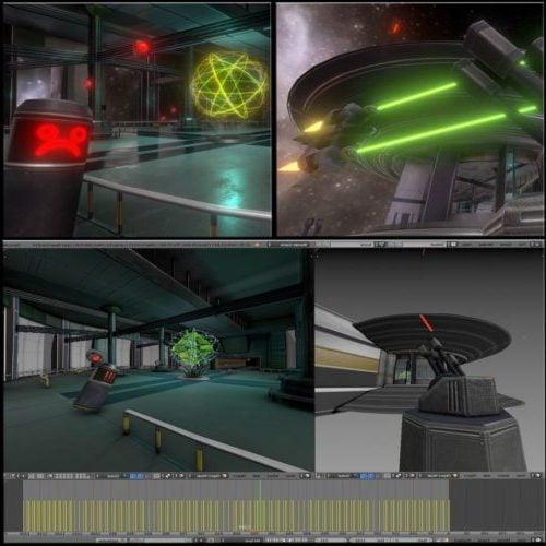 سفينة الفضاء الخيال العلمي