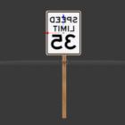 Plaque de rue de limite de vitesse