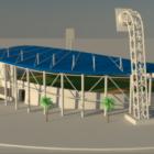 屋根建築のスタジアム