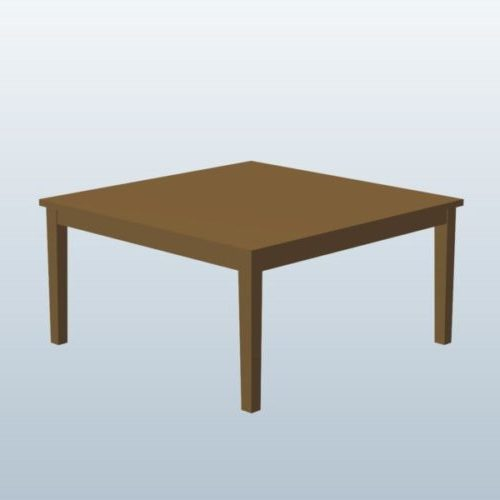 Wooden Straight Leg Square Table