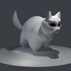 Lowpoly Cat Figurine