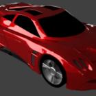Röd superbil