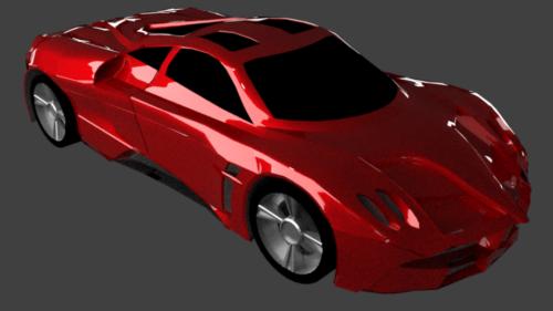 Supercar rojo