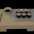 Sushi matuppsättning