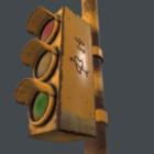 Old Rusty Traffic Light