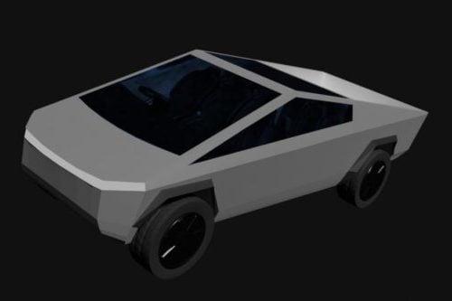 White Tesla Cyber Truck