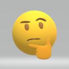 Myšlení ikony Emoji