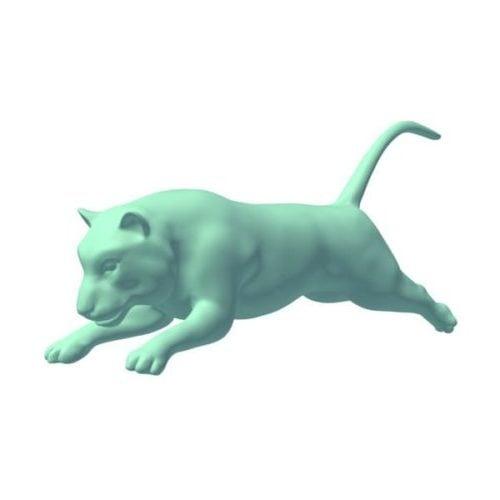 Tigre corriendo Lowpoly