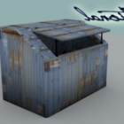 Rustikaler Müllcontainer