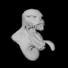 विष सिर मूर्तिकला