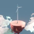 Caricature d'éolienne
