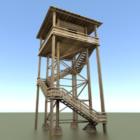 Torre de vigilancia de madera