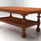 Pieds classiques de table en bois