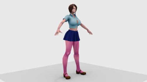 Personaje de anime de chica luchadora