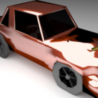 Lowpoly Red Car Design