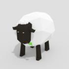 Cartoon Lowpoly Sheep Animal