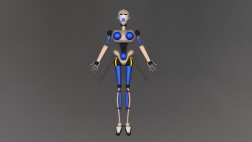Emily Girl Robot Character