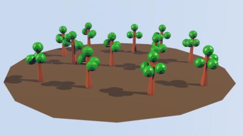 Metsäpuut Lowpoly