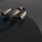 سيارة صاروخ المستقبل