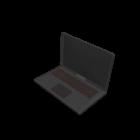 Sort Lenovo bærbar computer