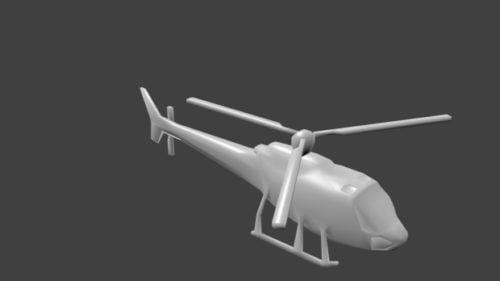 Low Poly Hubschrauber V1