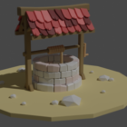 Lowpoly Old Well