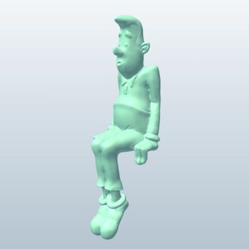 Guy Sitting Character