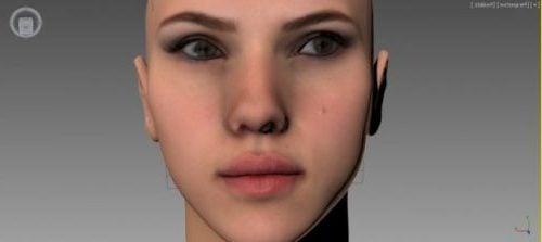 Scarlett Johansson Head Sculpt