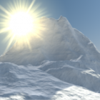 Snow Mountain Scene