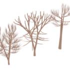 Ensemble d'arbres d'hiver