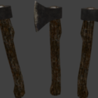 أداة المزارع الخشبية الفأس