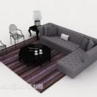 Prosta szara sofa