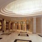 Interno della decorazione della hall dell'hotel