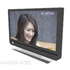 Tv-skärm tidig platt design