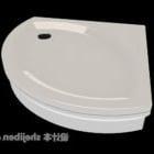 Dom Łazienka Podwozie Białe Plastik