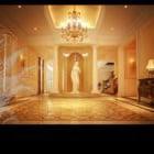 Commercial Hall Warm Lighting Interior