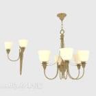 Semplice lampadario per la casa in stile oro