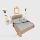 طقم سرير مزدوج عصري بسيط