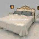 سرير مزدوج أوروبي أنيق
