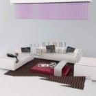 Nowoczesna biała sofa