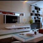 Salon à la maison avec support moderne